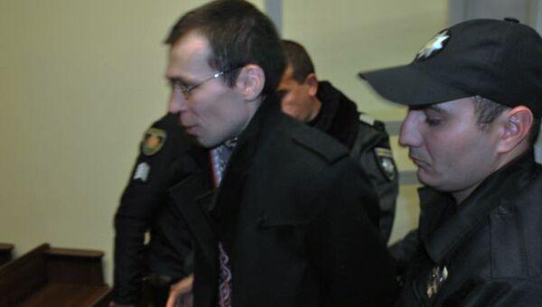 Журналист Василий Муравицкий в Королевском районном суде Житомира, Украина