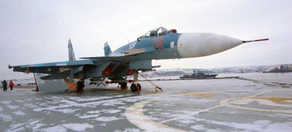 Многоцелевой палубный истребитель Су-33. Архив