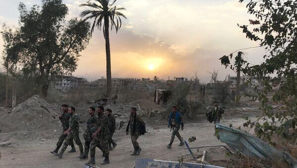 Сирийские военные в провинции Дейр-эз-Зор. Архивное фото