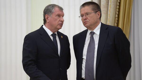 Игорь Сечин и Алексей Улюкаев. Архивное фото
