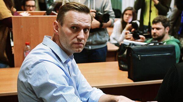 Алексей Навальный в Симоновском районном суде Москвы. Архивное фото