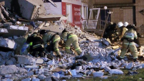 Разбор завалов обрушившегося жилого панельного дома №26 по Удмуртской улице в Ижевске. 9 ноября 2017