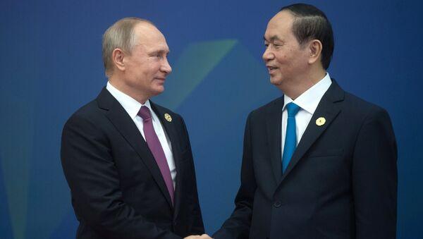 Президент РФ Владимир Путин и президент Вьетнама Чан Дай Куанг. Архивное фото