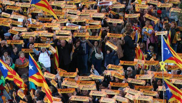 Митинг в Барселоне. 11 ноября 2017
