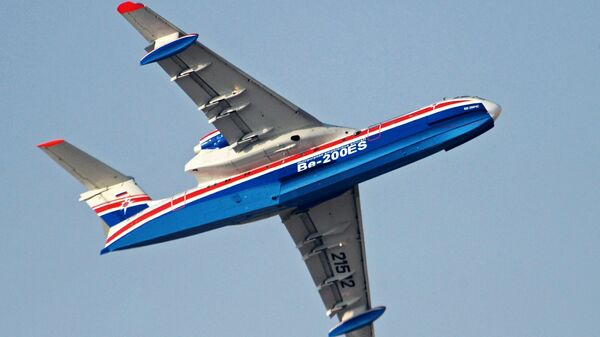 Российский самолёт-амфибия Бе-200ЧС. Архивное фото