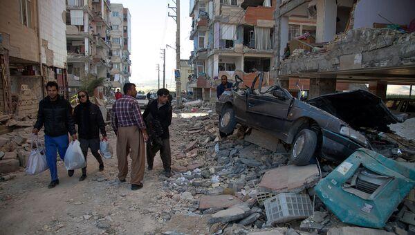 Последствия землетрясения в иранской провинции Керманшах