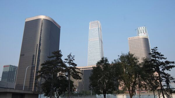 Район Гуомао (Guomao) в Пекине. Архивное фото