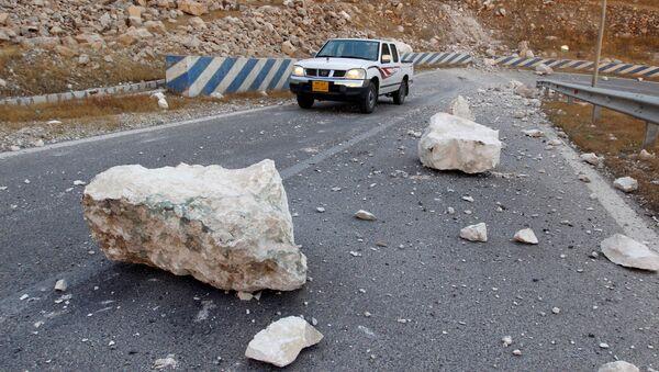 Последствия землетрясения недалеко от города Сулеймания,Ирак. 13 ноября 2017