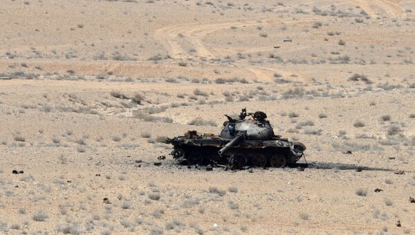 Подбитый танк в Сирии. Архивное фото