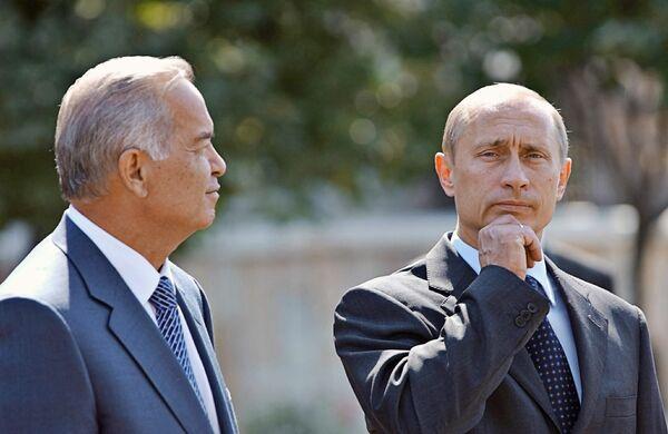 Владимир Путин, Президент Узбекистана Ислам Каримов. Архив