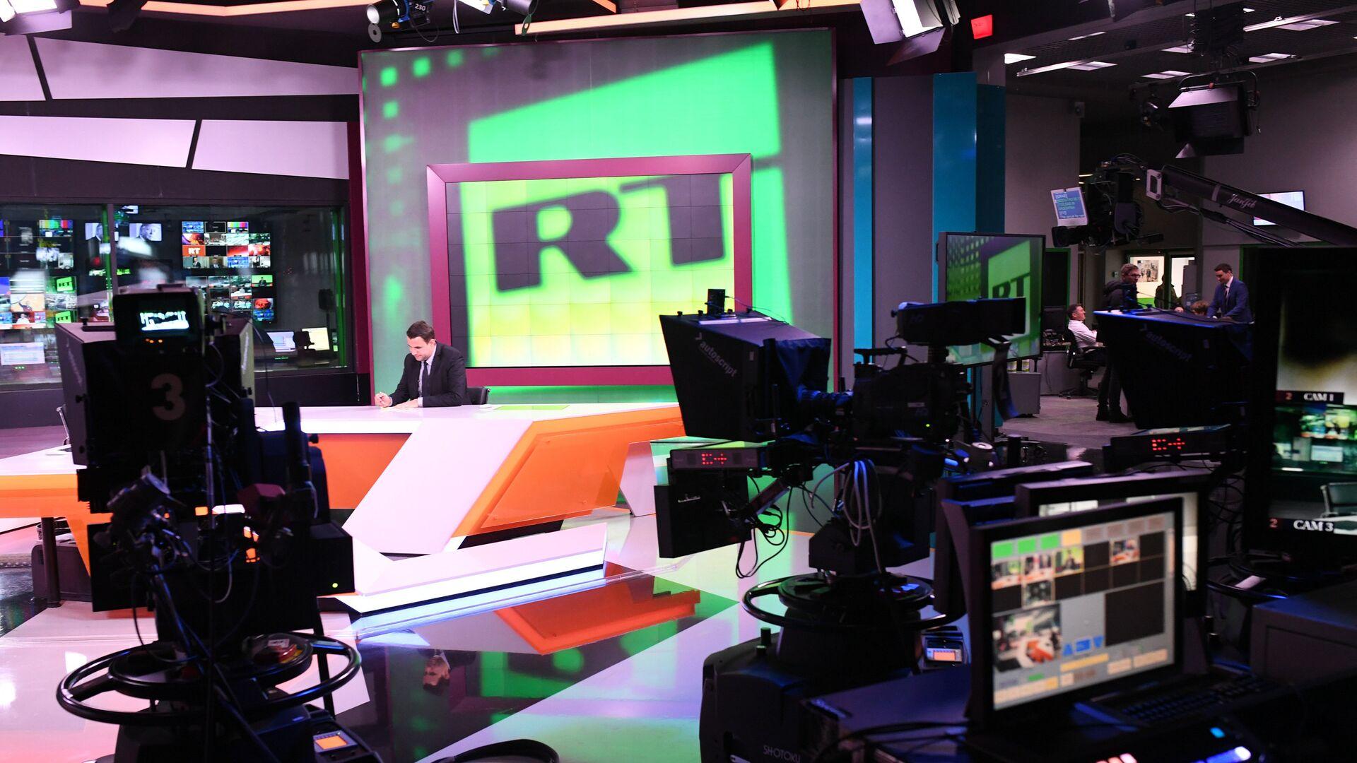 Студия телеканала RT в Москве - РИА Новости, 1920, 22.03.2021