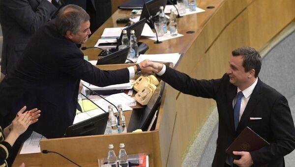 Глава Национального совета Словакии Андрей Данко во время заседания Госдумы РФ. 15 ноября 2017