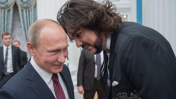 Получивший госнаграду Киркоров сделал выводы о музыкальных вкусах Путина -  РИА Новости, 03.03.2020