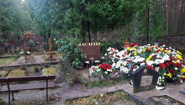 Могила сатирика Михаила Задорнова в Яундубулты. 15 ноября 2017