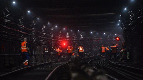 Ремонтные работы на участке Сокольнической линии