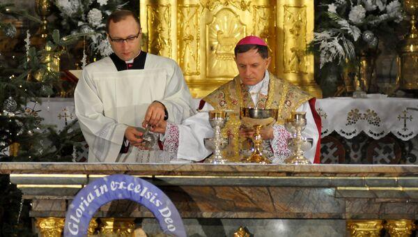 Празднование католического Рождества во Львове. Архивное фото