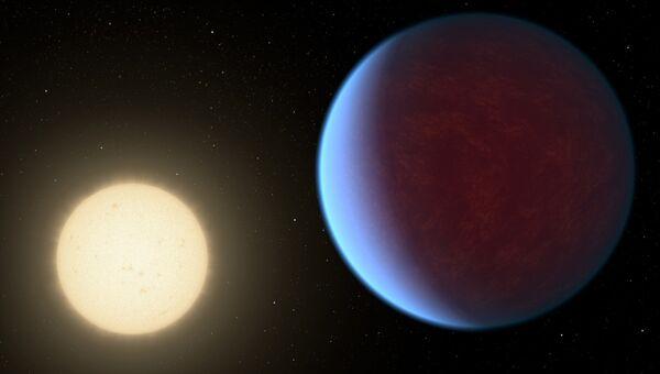 Новый облик планеты-алмаза 55 Cnc e в представлении художика