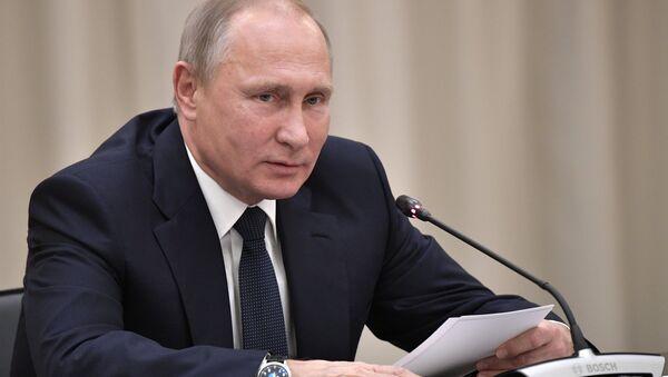Президент РФ Владимир Путин во время заседания Попечительского совета Мариинского театра. 17 ноября 2017