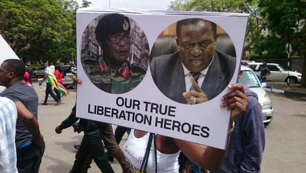 Марш за отставку президента Мугабе в Зимбабве. 18 ноября 2017