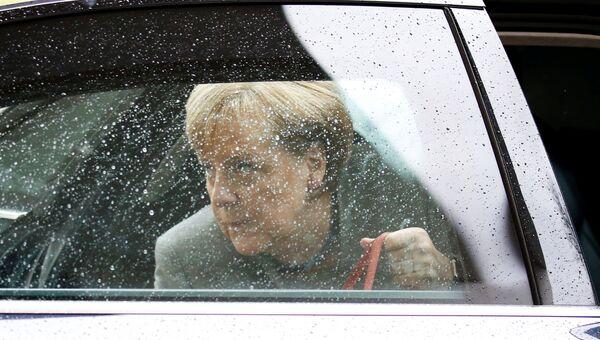 Ангела Меркель перед началом переговоров о формировании коалиционного правительства в Берлине