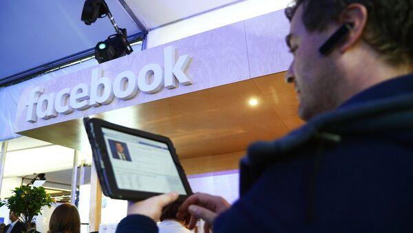 Стенд компании Facebook. Архивное фото
