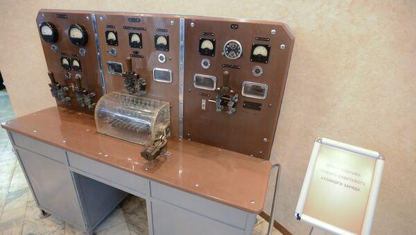 Пульт подрыва первого советского атомного заряда в музее РФЯЦ-ВНИИЭФ в Сарове