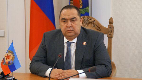 Глава ЛНР Игорь Плотницкий на пресс-конференции в Луганске. 23 ноября 2017