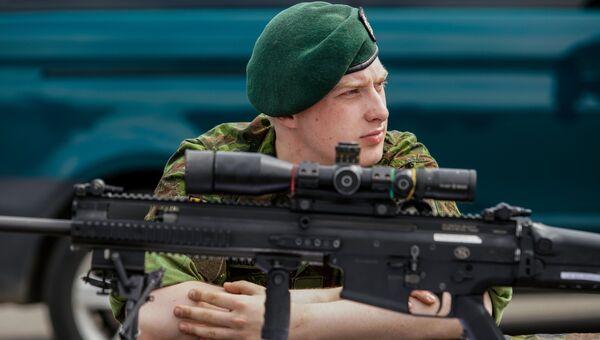 Литовский военнослужащий. Архивное фото