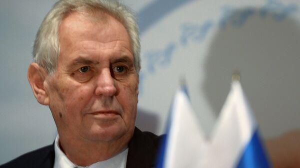 Глава Чешской Республики Милош Земан