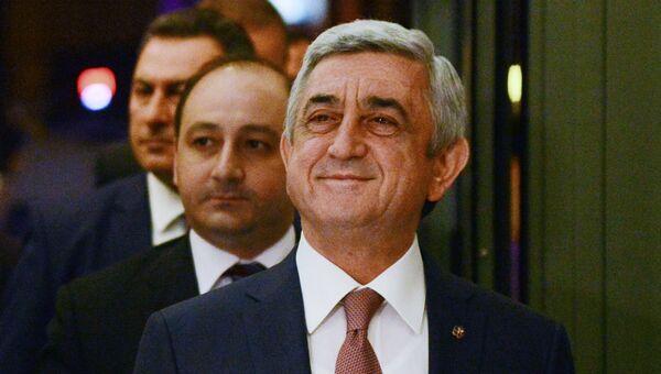 Премьер-министр Армении Серж Саргсян. Архивное фото