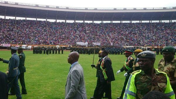 Церемония инаугурации нового президента Зимбабве Эммерсона Мнангагвы в Хараре