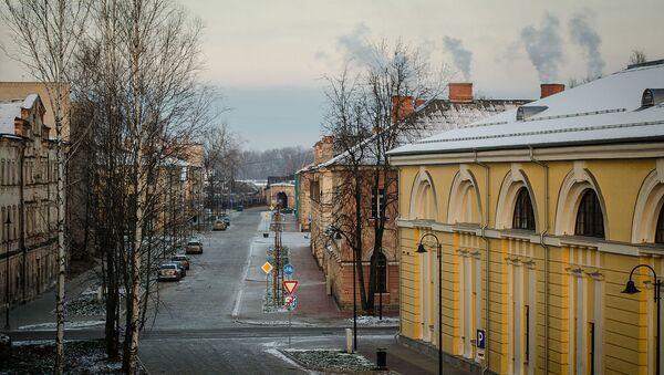 Улица в городе Даугавпилс, Латвия. Архивное фото