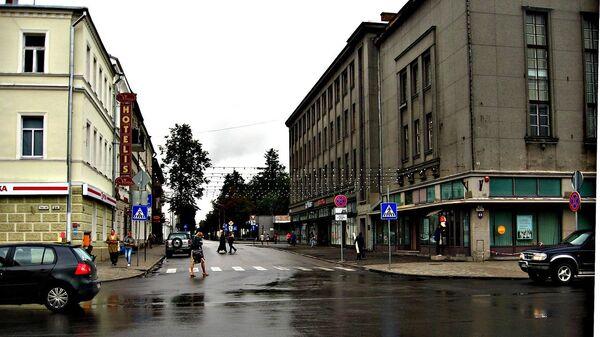 Улица в городе Даугавпилс, Латвия