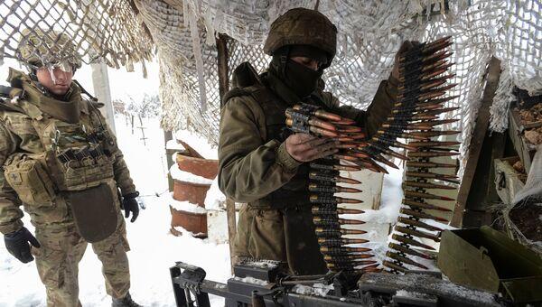 Украинские военнослужащие в Авдеевке. Архивное фото