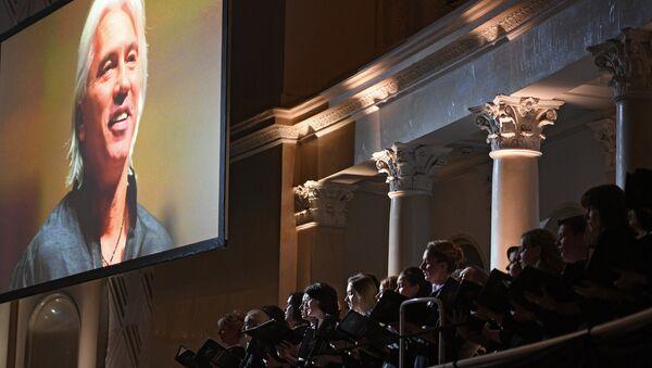 Церемония прощания с оперным певцом Дмитрием Хворостовским. Архивное фото