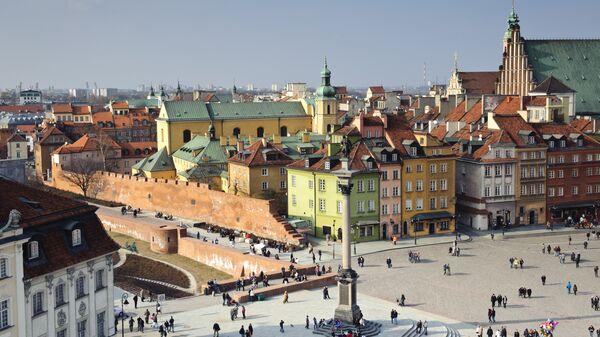 Центр города в Варшаве, Польша