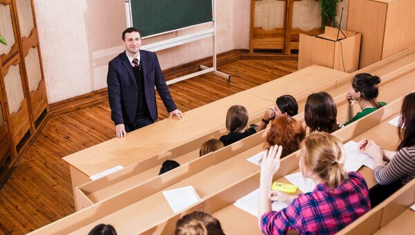 Лекция в университете. Архивное фото