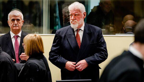 Генерал боснийских хорватов Слободан Праляк в Гаагском трибунале. 29 ноября 2017