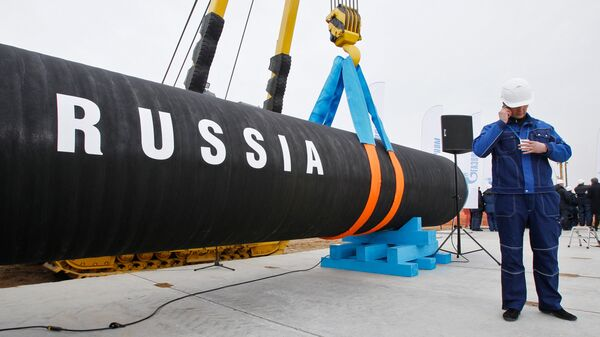 Начало строительства трубопровода Северный поток. Архивное фото