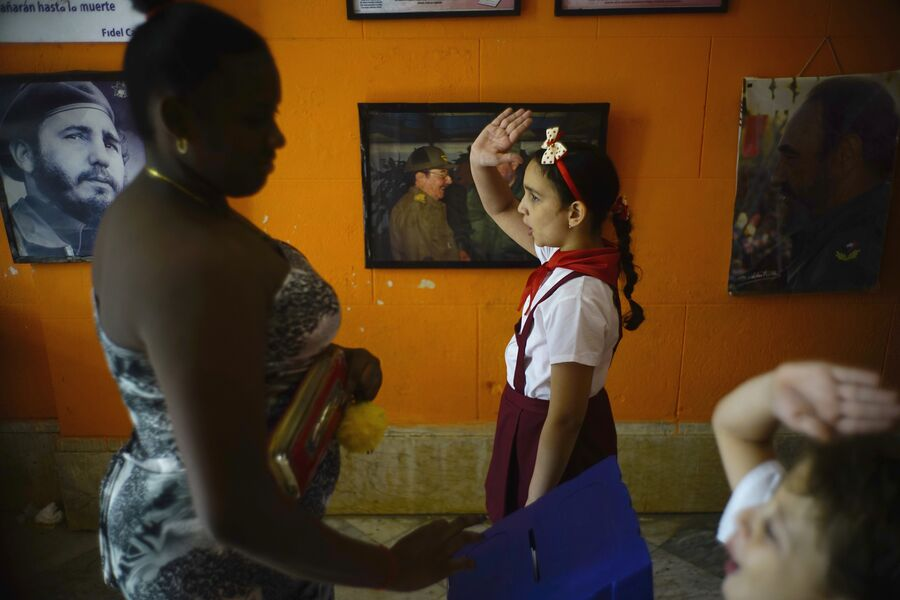 Школьники на муниципальных выборах в Гаване