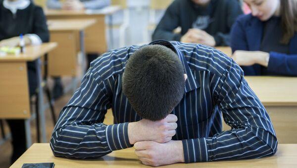 Ученик в школе