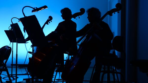 Репетиция симфонического оркестра. Архивное фото