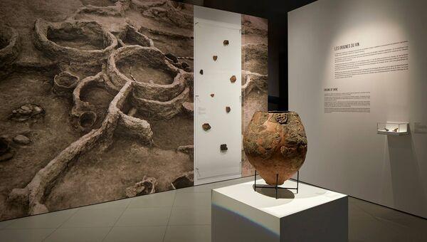 Сосуд, найденный в ходе раскопок в древних поселениях Грузии. Архивное фото