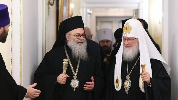 Патриарх Московский и всея Руси Кирилл и патриарх Антиохийский и всего Востока Иоанн X
