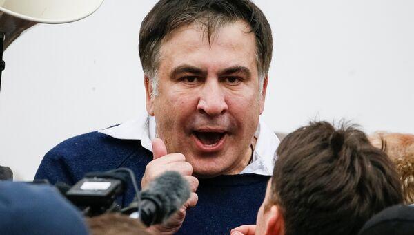 Михаил Саакашвили после освобождения в Киеве