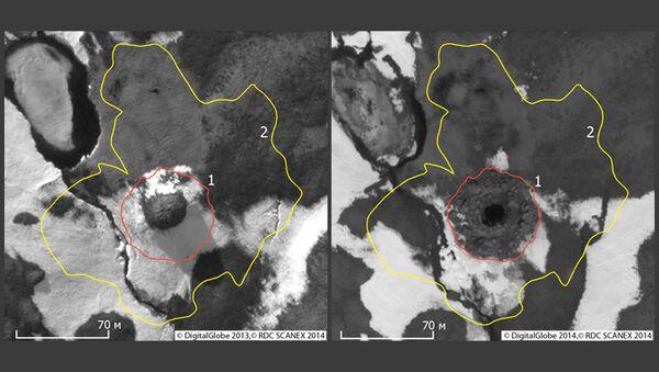 Спутниковые фотографии воронки в Ямало-Ненецком автономном округе