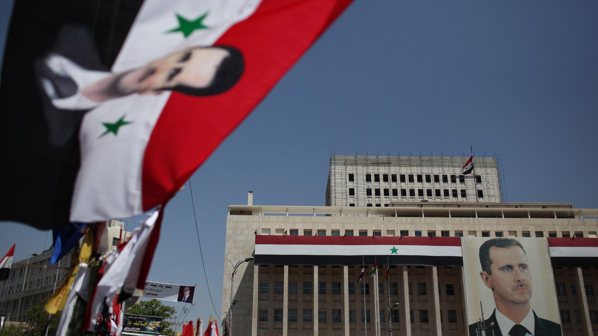 Портрет президента Башара Асада в Дамаске - РИА Новости, 1920, 15.09.2020