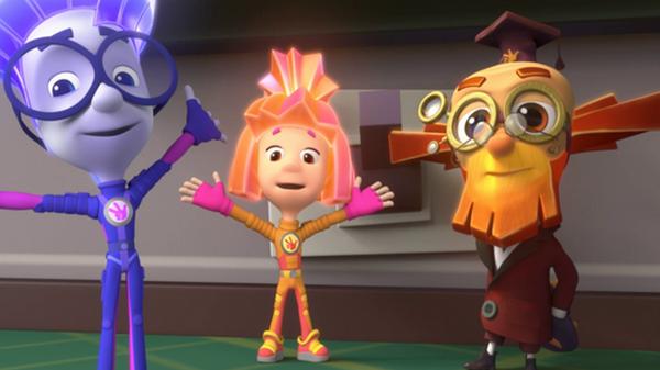 Кадр из мультфильма Фиксики
