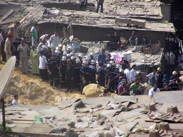 Обрушение скалы на жилой квартал в Каире