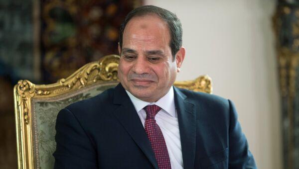 Президент Арабской Республики Египет Абдельфаттах Сиси во время встречи в Каире с президентом РФ Владимиром Путиным. 11 декабря 2017